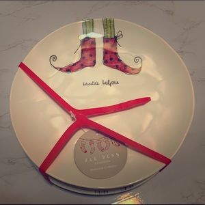 Rae Dunn Elf Shoe Plate Set